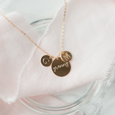 Multi Coin Necklace - Custom Engraving