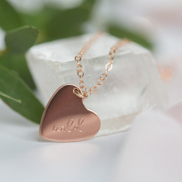 Wild Heart Rose Gold Necklace