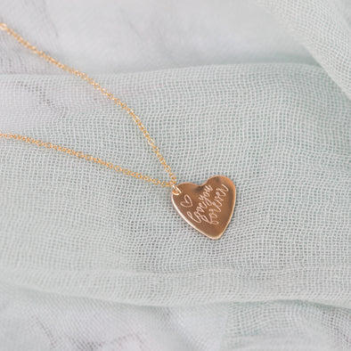 Heart Necklace - Custom Engraving