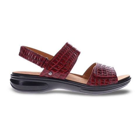 Como Back Strap Sandal Red Croc