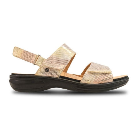 Como Back Strap Sandal Metallic Interest