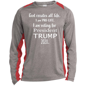 President Trump 2020 Long Sleeve Heather  Poly T