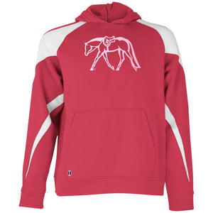 Hunter Youth Colorblock Hoodie w/ Light Pink Ink