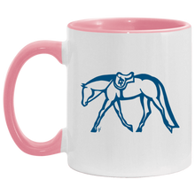 Hunter Under Saddle Blue Horse Accent Mug