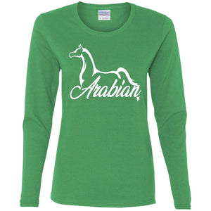 Arabian Ladies' LS T-Shirt- White Ink