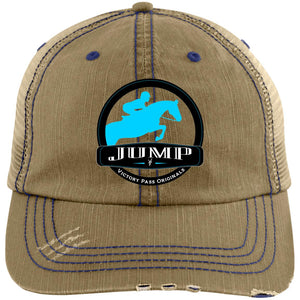Jump Badge embroidered Distressed Trucker Cap