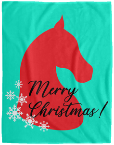 Saddlebred Christmas Plush Fleece Blanket - 60x80