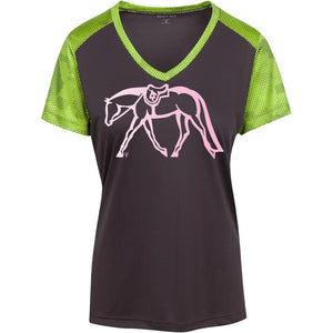 Ladies Hunter CamoHex Colorblock T-Shirt