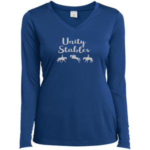 Unity Stables Ladies' LS Performance V-Neck