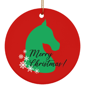 Saddlebred Christmas Ceramic Ornament
