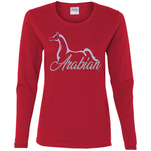 Arabian Ladies LS T- Silver Ink