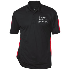 Unity Stables Performance Textured Three-Button Polo