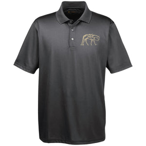 M345 Harriton Men's Snap Placket Performance Polo