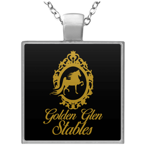 Golden Glen Stables Square Necklace