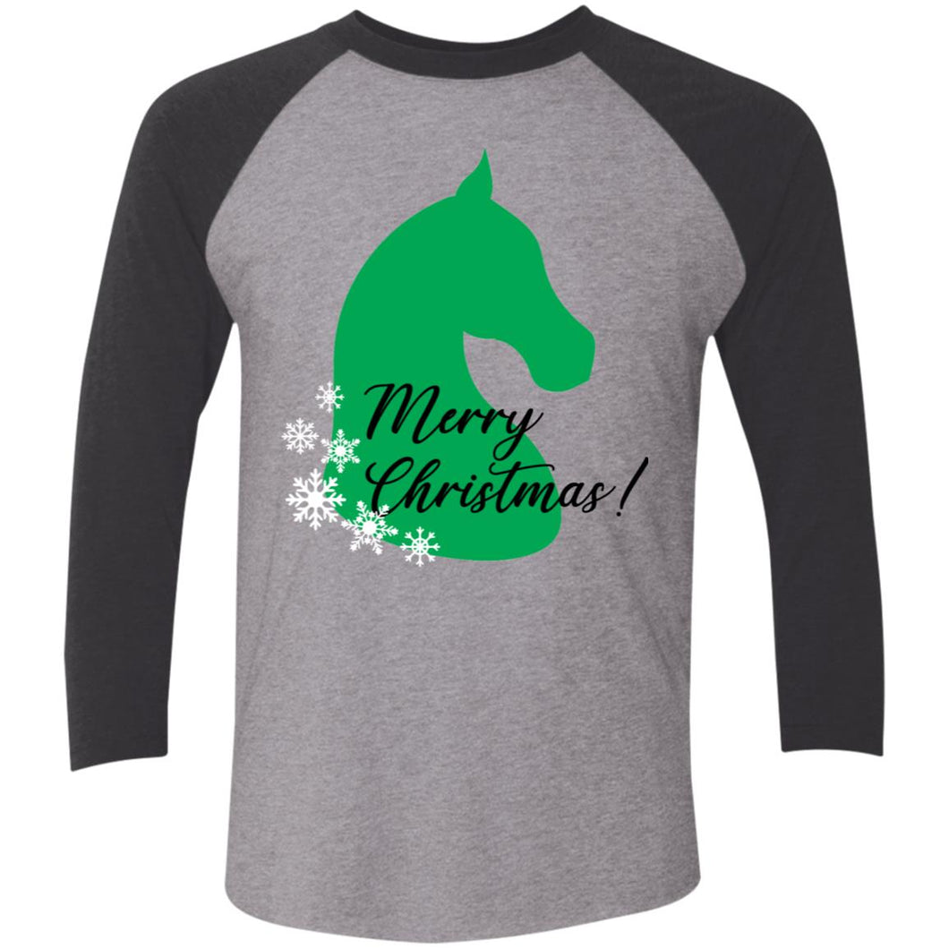 Christmas 3/4 Sleeve Baseball Raglan T-Shirt
