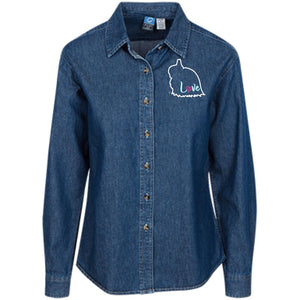 JW Love Women's LS Denim Shirt