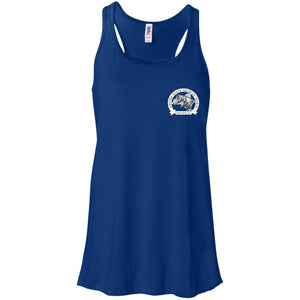 ESAHA Ladies Flowy Racerback Tank w/ White Ink Back Design