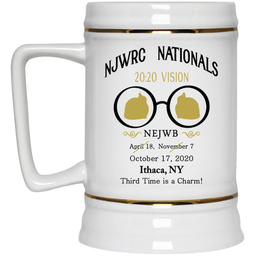 NJWRC Nationals Stein 22oz.