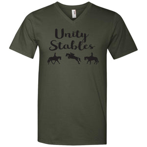 Unity Stables Men's Printed V-Neck T-Shirt