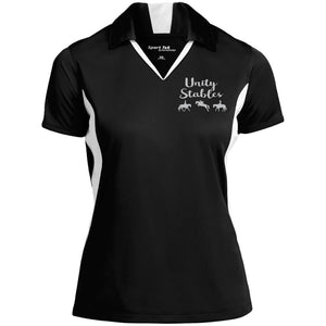 Unity Stables Ladies' Colorblock Performance Polo