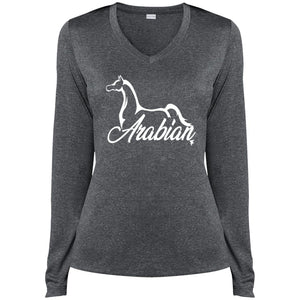 Arabian Ladies LS V-Neck- White Ink