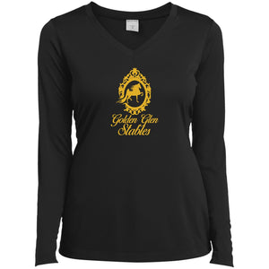 Golden Glen Stables Ladies' LS Performance V-Neck T