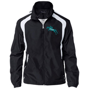 Jump  teal logo Youth Colorblock Jacket