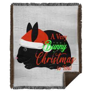Bunny Christmas to You! Woven Blanket - 50x60