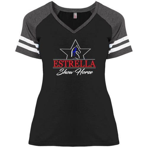 DM476 District Ladies' Game V-Neck T-Shirt
