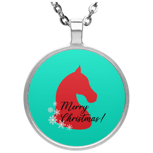 Saddlebred Christmas Circle Necklace