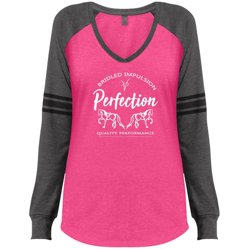 Perfection Ladies' Game LS V-Neck T-Shirt
