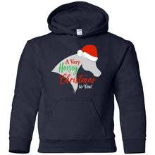 Horsey Christmas Youth Pullover Hoodie