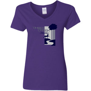 Timber Creek Stables Ladies' 5.3 oz. V-Neck T-Shirt