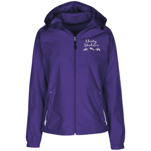 Unity Stables Ladies' Jersey-Lined Hooded Windbreaker