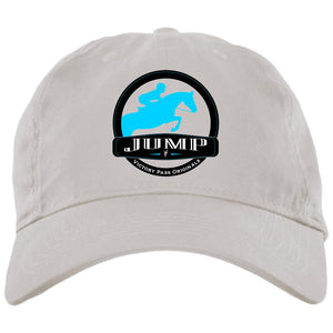 Jump Badge Embroidered Brushed Twill Unstructured Cap