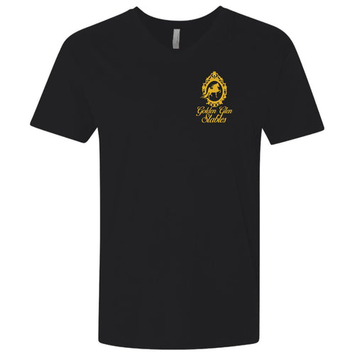 Golden Glen Stables Men's Premium Fitted SS V-Neck
