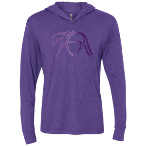Unisex Hunter LS Hooded T with purple gradient