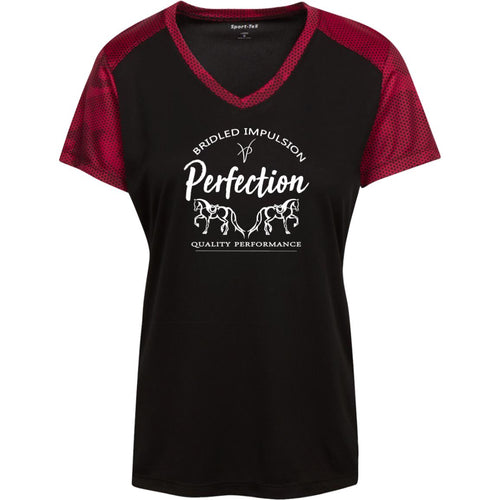 Perfection Ladies' CamoHex Colorblock T-Shirt