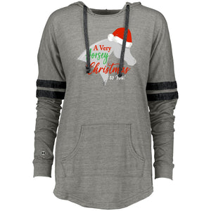 Horsey Christmas Holloway Ladies Hooded Pullover