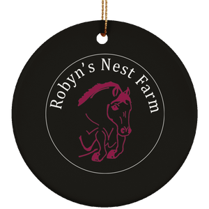 Robyn's Nest Ceramic Circle Ornament