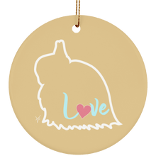 JW Love Ceramic Circle Ornament