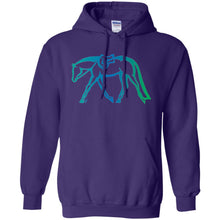 Hunter Pullover Hoodie w/ Blue & Green Gradient Ink