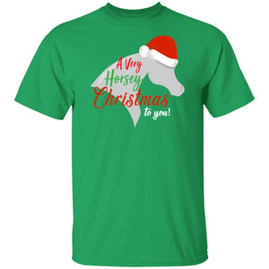 Horsey Christmas Cotton T-Shirt