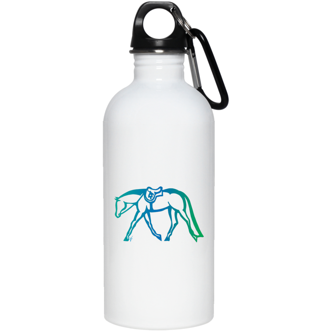 Hunter Under Saddle Fade on Stainless Steel Water Bottle