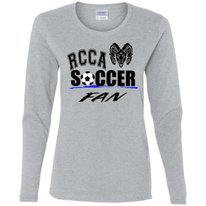 Soccer Ladies' Cotton LS T-Shirt