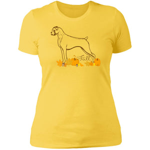 Fall Boxer Ladies' Boyfriend T-Shirt