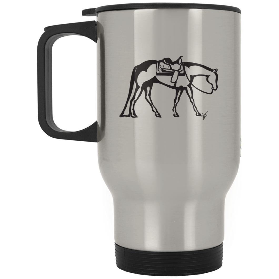 Western Silver Stainless Travel Mug