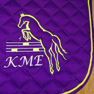 Embroidered Design on a Saddle Pad
