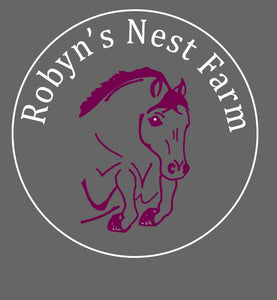 Robyn's Nest Embroidered Logo on Saddle Pad