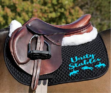Unity Stables Embroidered Saddle Pad